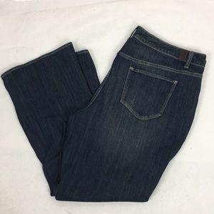 Simply Vera SZ 20W Short Bootcut Denim Jeans New
